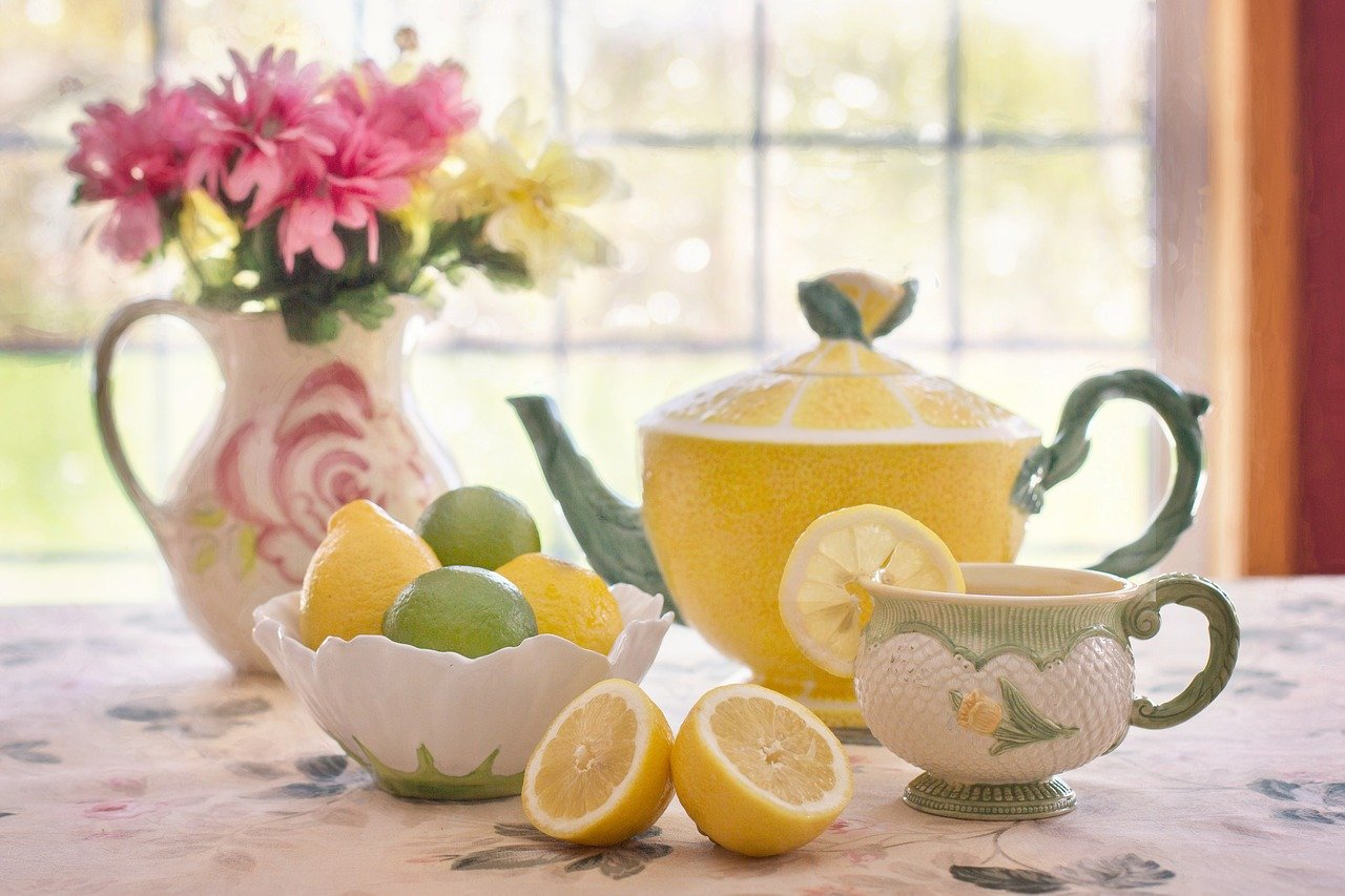 tea, lemon, beverage